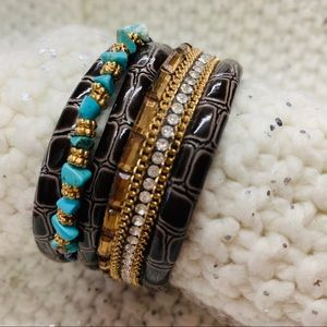 Multi-Layer Leather Bracelet -Wrap Cuff Bangle